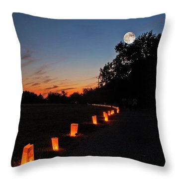 Relay  For Life Throw Pillow