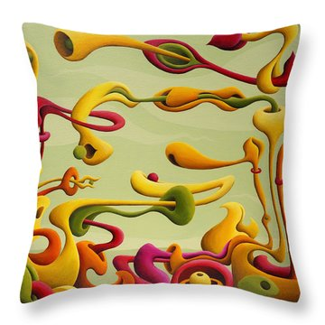 Relearning Gravitational Resistance Throw Pillow
