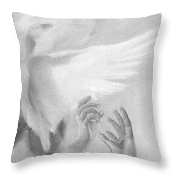 Release Throw Pillow by Denise Fulmer