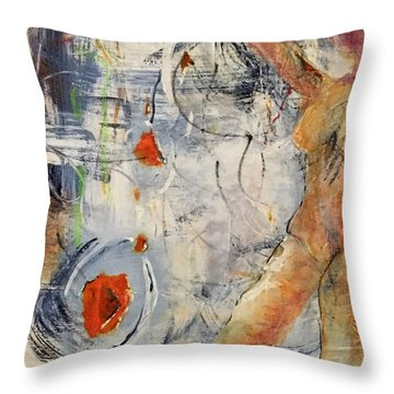 Release Throw Pillow by Gail Butters Cohen