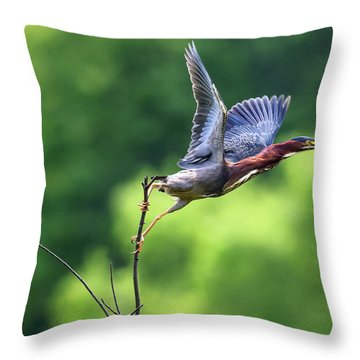 Release Point Throw Pillow