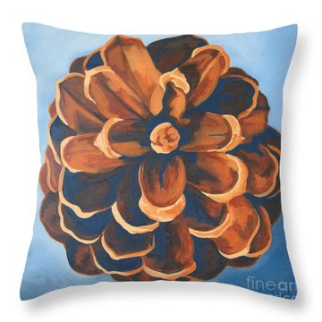 Throw Pillow featuring the painting Released by Erin Fickert-Rowland