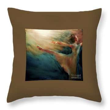 Releasing Of The Soul Throw Pillow by FeatherStone Studio Julie A Miller