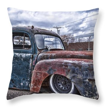 Relic Rides Low Throw Pillow