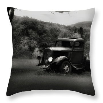 Throw Pillow featuring the photograph Relic Truck by Bill Wakeley