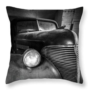 Old Car - Blue Ridge Mountains Throw Pillow