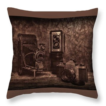 Throw Pillow featuring the photograph Relics by Mark Fuller