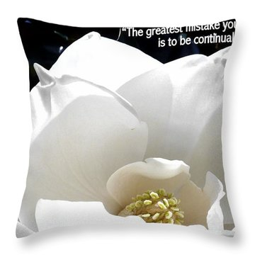Relief 2, With Quote.  Throw Pillow