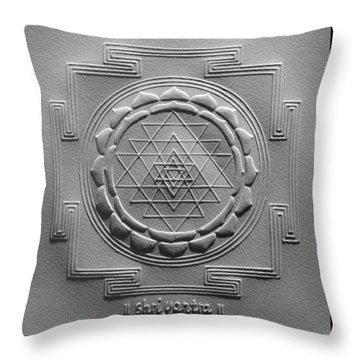 Relief Shree Yantra Throw Pillow