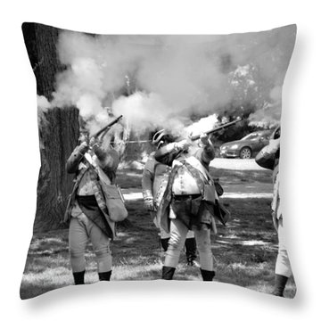 Reliving History-bw Throw Pillow