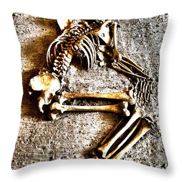 Remains ... Throw Pillow by Juergen Weiss