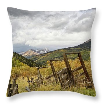 Remains Of A Corral Throw Pillow
