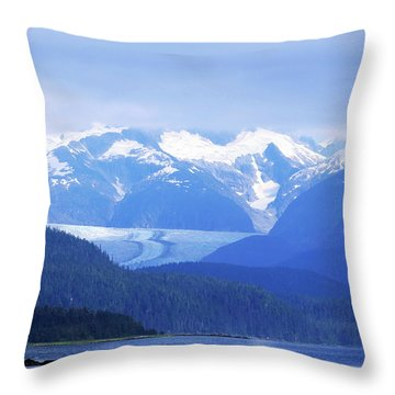 Remains Of A Glacier Throw Pillow