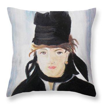 Remake Portrait Of Berthe Morisot Throw Pillow