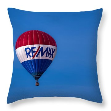 Remax Hot Air Balloon Throw Pillow