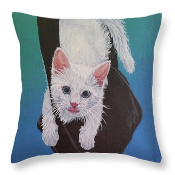 Rembrandt Justa Swingin Throw Pillow by Wendy Shoults