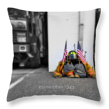 Throw Pillow featuring the photograph Remember  by Greg DeBeck