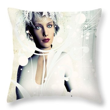Throw Pillow featuring the digital art Remember Me by Riana Van Staden