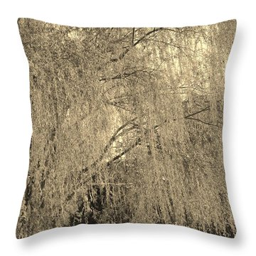 Remember Our Willow Throw Pillow