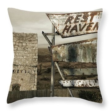 Remember The Mother Road Throw Pillow