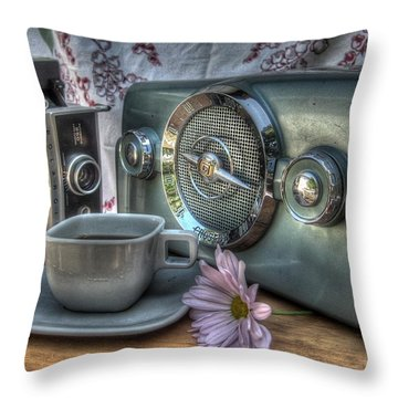 Remember The Past Throw Pillow by Jane Linders