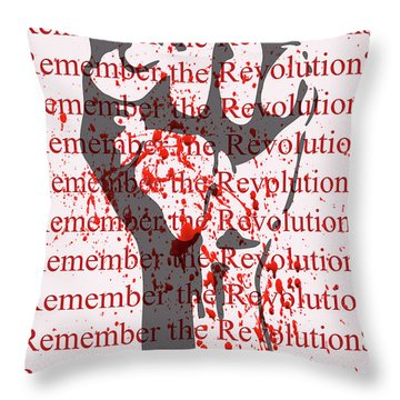 Throw Pillow featuring the digital art remember the Revolution by David Perry Lawrence