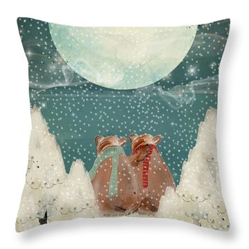 Throw Pillow featuring the painting Remember The Time by Bri B
