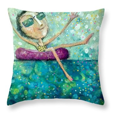 Remember To Play Throw Pillow by Eleatta Diver