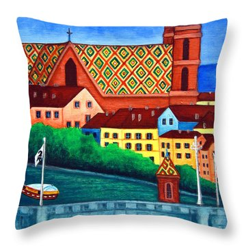 Remembering Basel Throw Pillow