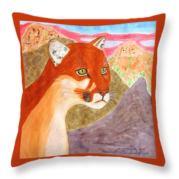 Remembering Big Bend Throw Pillow