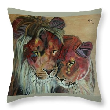 Remembering Cecil Throw Pillow by Melita Safran