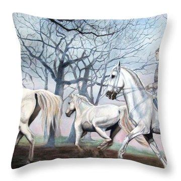 Remembering Days Of Grandeur Throw Pillow
