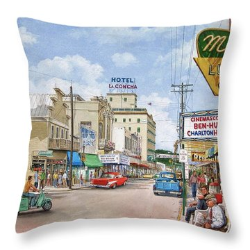 Remembering Duval St. Throw Pillow by Bob George