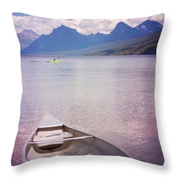 Throw Pillow featuring the photograph Remembering Lake Mcdonald by Heidi Hermes