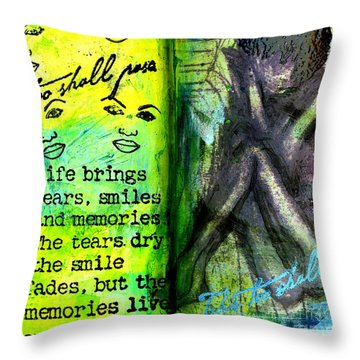 Remembering My Son -  Art Journal Entry Throw Pillow