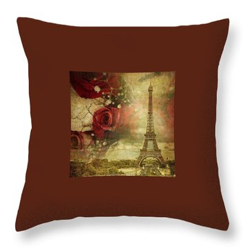 Remembering Paris Throw Pillow