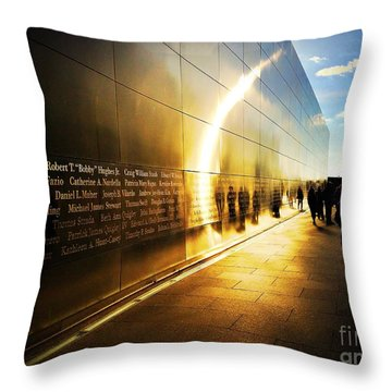 Remembrance At Empty Sky Throw Pillow