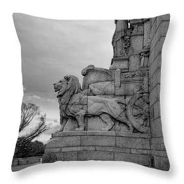 Remembrance Lions Throw Pillow
