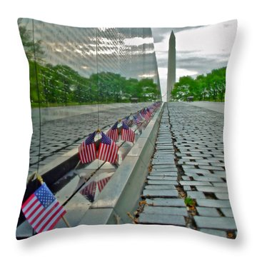Remembrance Of Patriotism Throw Pillow
