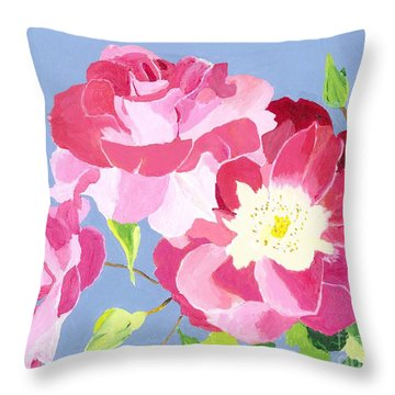 Throw Pillow featuring the painting Remembrance by Rodney Campbell