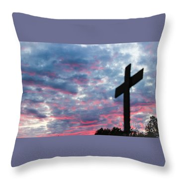 Reminded Throw Pillow by Robin Coaker