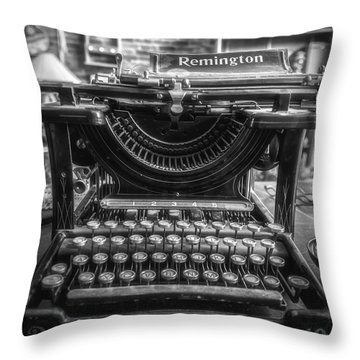 Throw Pillow featuring the photograph Remington Standard Typewriter No. 10 by Bitter Buffalo Photography