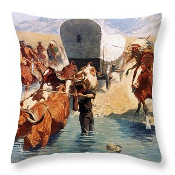 Remington: The Emigrants Throw Pillow by Granger