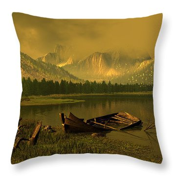 Remnants Of Time Throw Pillow