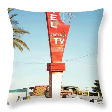 Remnants Of Vintage Vegas Throw Pillow