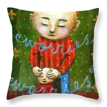 Removing Your Worries Throw Pillow