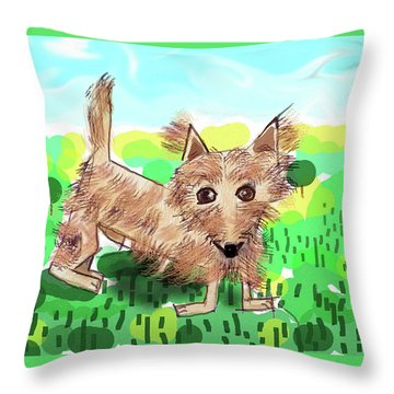 Remy, Laird Of The Cairn Throw Pillow