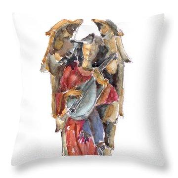 Renaissance Angel Throw Pillow by Claudia Hafner