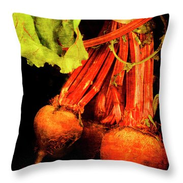 Renaissance Beetroot Throw Pillow