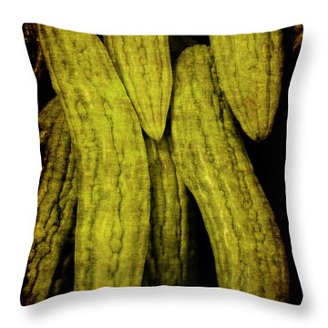 Renaissance Chinese Cucumber Throw Pillow